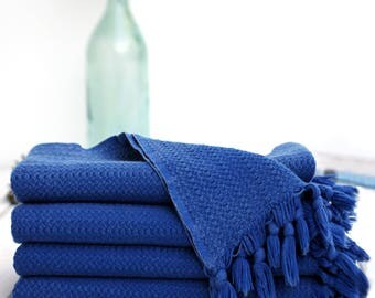 Blue Stonewashed Throw | 100%  Turkish Cotton