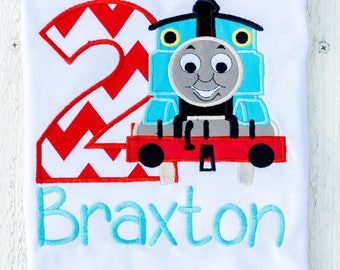 train birthday shirt, thomas birthday, train birthday