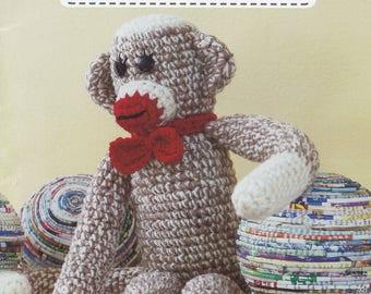 Crochet Toys for Tots, Leisure Arts Crochet Pattern Booklet 75293 Duck Teddy Bear Dolls Frogs
