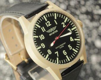 POLJOT.Russian watch. Mechanical watch. Mens Watch.poljot.Russian watches