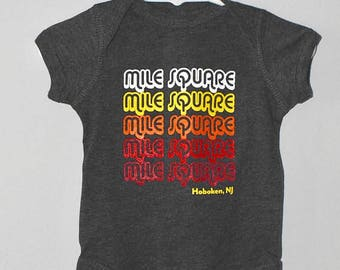 Mile Square onesie