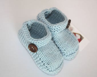 Hand knitted organic booties