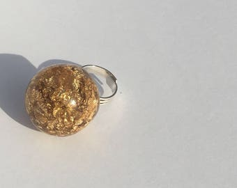 Gold Leaf Bubble Ring