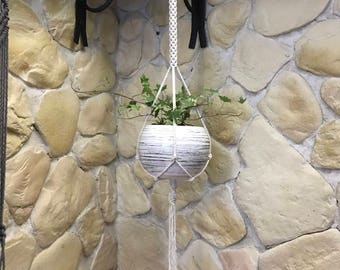 Macrame plant hanger, plant holder, modern macrame, hygge decor, boho home decor