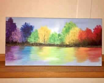Acrylic Painting - Mystical Foliage