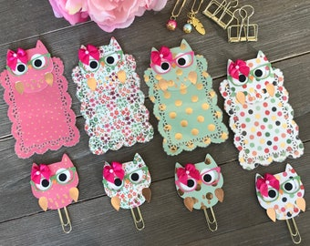 CONFETTI BLISS Owl TN Planner Page Marker or Planner Clip