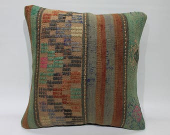 Pillow Cover Throw Pillow Vintage Turkish Kilim Embroidery Pillow Cover Decorative Cushion Covers Homedecor Kilim Pillows Floor Pillow  2613