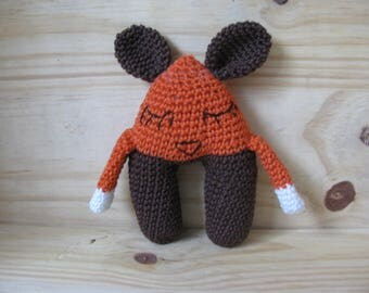 Toy renardo completely hand made in 100% cotton yarn