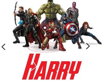 Avengers # 11 - 8 x 10 - T Shirt Iron On Transfer -- customize