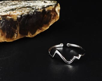 Sterling silver heartbeat ring on sale!