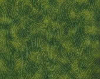 SALE! Color Movement- Per Yd - Peridot Green - Kona Bay