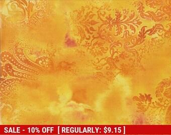 SALE** Dreamscape - Per Yd - Benartex - Beautiful Screenprint - Yellow-Gold - Color 03