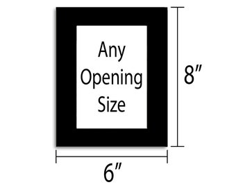 6x8 Photo Mat - Multiple Colors - Any Opening Size