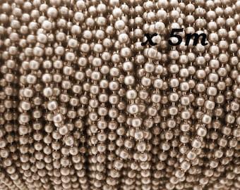 5 m chain bronze 1.5 mm - L50047 ballpoint