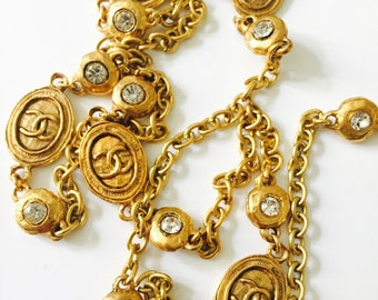 chanel vintage chain necklace