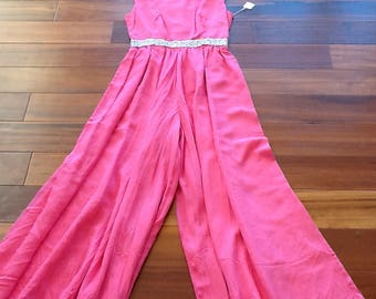 1960's Nadine HOT PINK JUMPSUIT