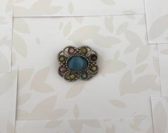 Brooch - Spilla - Vintage Brooch - Vintage - Multi Color Brooch - Elegant Brooch - Pins and Brooches - Antique Jewelry - Gift for Her