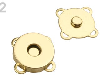 Pack of 5 Magnetic sewing button Ø18 mm / Gold