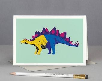 Stegosaurus Dinosaur Card