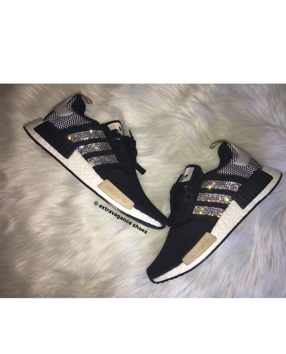 huge selection of b7f18 00e3b Swarovski Womens Adidas NMD Casual Running Shoes hot sale 2017