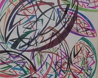 Original Abstract Drawing, Original Abstract Art, Modern Drawing, Modern Art