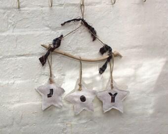 Handmade Christmas Decoration - Joy