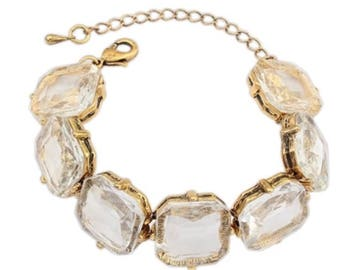 Antique White Crystal Bracelet