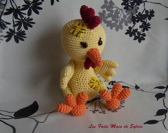 Nana can little crocheted chicken