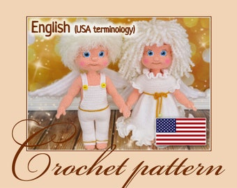 Angels - Amigurumi Crochet Pattern PDF file by Anna Sadovskaya