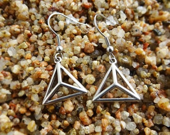 Triangle Geometric Earrings ~ Collected and connected with love :)