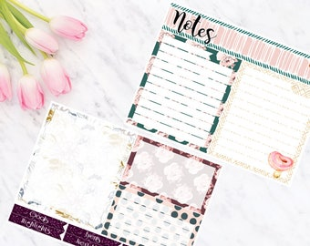 Second Spring Notes Page Kit Vertical & Horizontal Planner Stickers for Erin Condren LifePlanners
