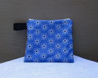 Blue Atom Zippered Pouch