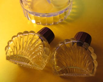 Vintage Glass & Bakelite Salt and Pepper shakers
