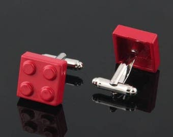 Lego Cufflink -B71   ** Free Gift Box **