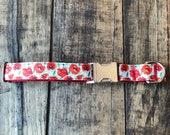 Poppy Flower Dog Collar, Sew Fetch Dog Collar, Floral Dog Collar, Flower Dog Collar, Girly Dog Collar, Pretty Dog Collar