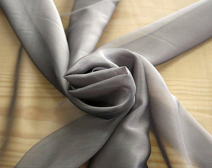 221202-Mouseline natural Silk Cangiante 100%, width 135/140 cm, chiffon litmus, made in Italy, dry washing, weight 35 gr