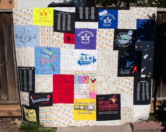 Custom Tee Shirt Quilt  (Free Shipping)