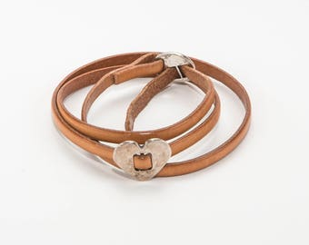 Eco leather Bracelet  - Handmade
