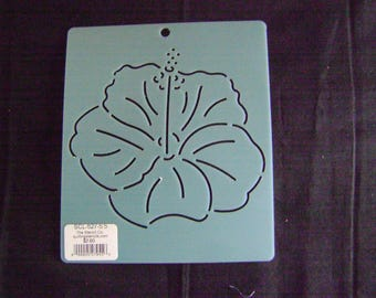 Sashiko Japanese Embroidery Stencil 5.5 in. Asian Hibiscus Flower/Quilting