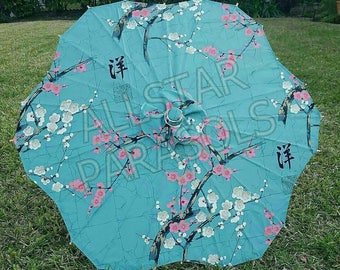 32 inch Flower Shaped Cherry Blossom Parasol
