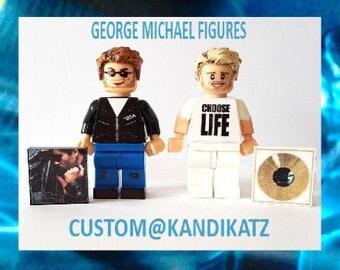 George Michael Custom Mini Figure,Music Block Toys,Cake Topper, Minifigures,KandiKatz