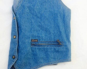 80's Vintage Pop Model Denim Vest