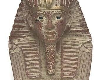 King Tut  Head Statue Egyptian Pharaoh Made of Plaster