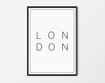 London, London Print | London Artwork | London Illustration | Architecture Print | City Print