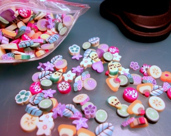 200-piece-Polymer Clay Slices-Assorted Colors and Flavors-Nail Art-Scrapbooking Embellishment-Cell Phone Deco-Kawaii Deco-Polymer Clay-