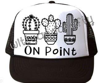 Cactus Hat, Cactus On Point Hat, On Point Hat, Cactus Dad Hat, Cactus Trucker Hat