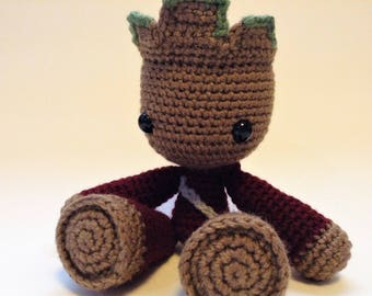 Ready To Ship Crochet Ravager Groot Doll