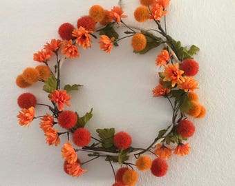 Fall wreath, fall decor, thanksgiving decor, fall wedding decor, autumn decor, flower wreath