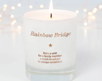Pet Memorial Gift, Dog Memorial, Pet Loss Gift, Rainbow Bridge, Memorial Gift, Sympathy Gift, Pet Loss, Pet Remembrance, Scented Candle,