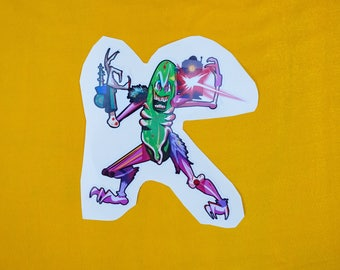 PICKLE RICK (sticker)